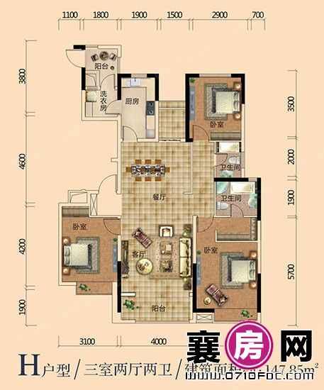 汉江梦1958户型图 (5)