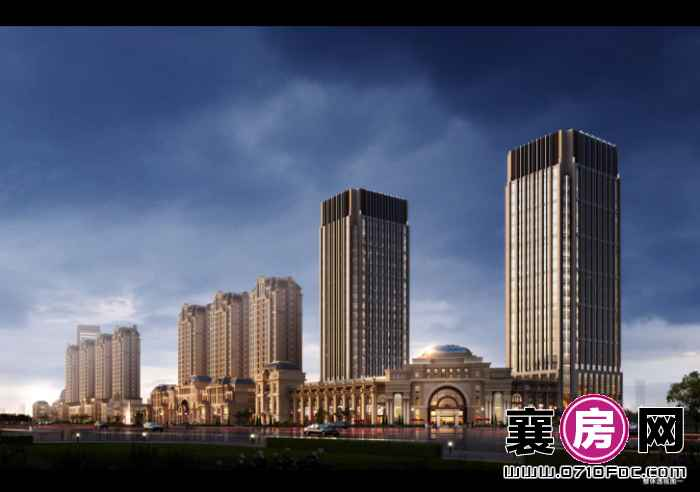 襄阳百盟光彩国贸大厦效果图