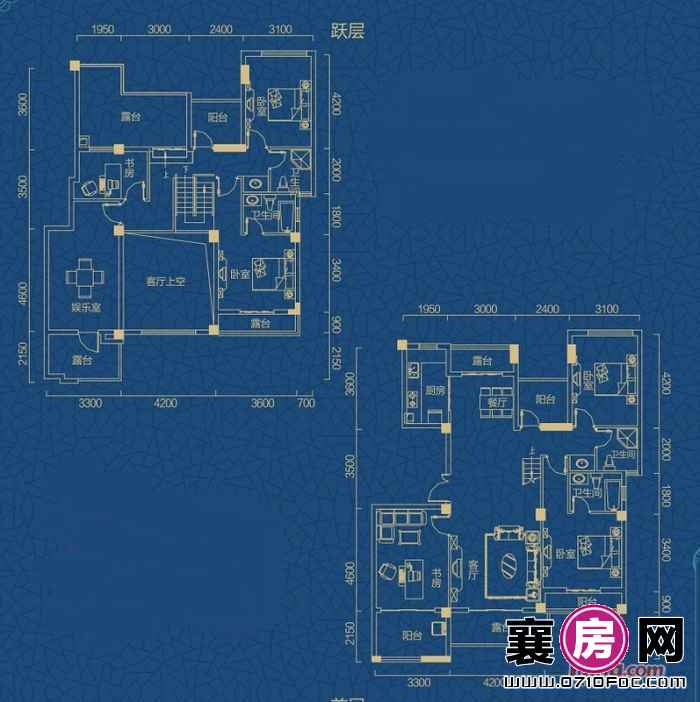 迅邦檀溪公馆A6-1户型7室2厅2卫1厨 235.81㎡