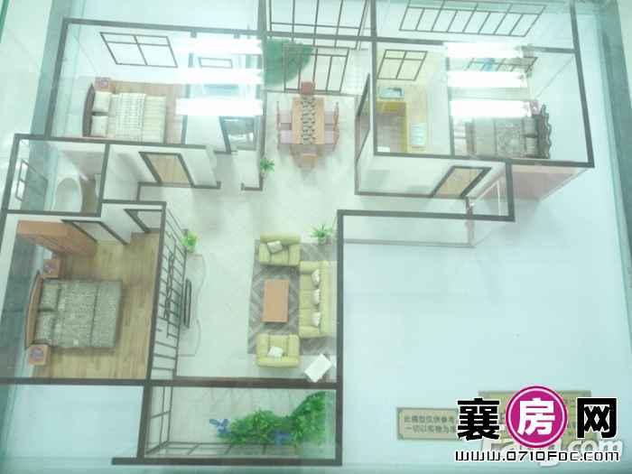 华盛滨江御景模型实景3室2厅2卫1橱