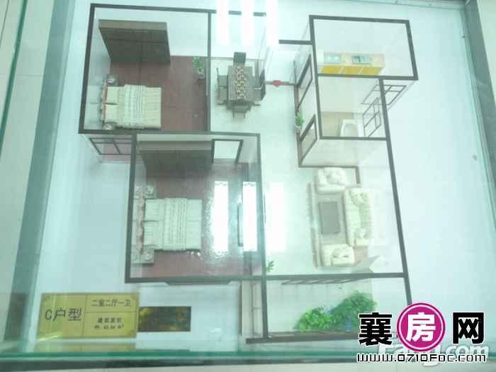 华盛滨江御景模型实景2室2厅1卫1橱