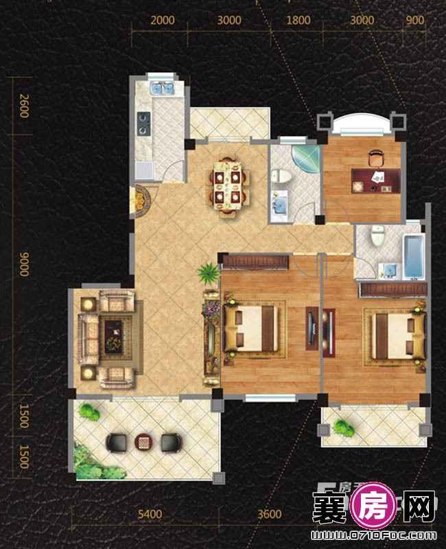 T26、T28 南北朝向三房户型3室2厅2卫1橱