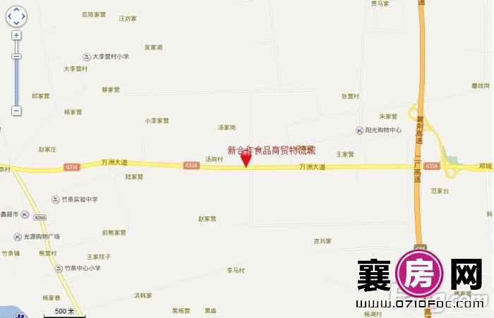 新合作襄阳食品商贸物流城交通图