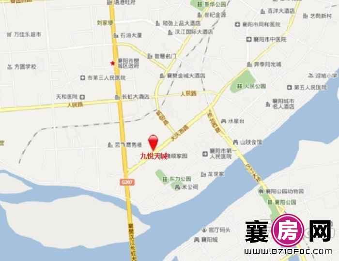九悦天城交通图