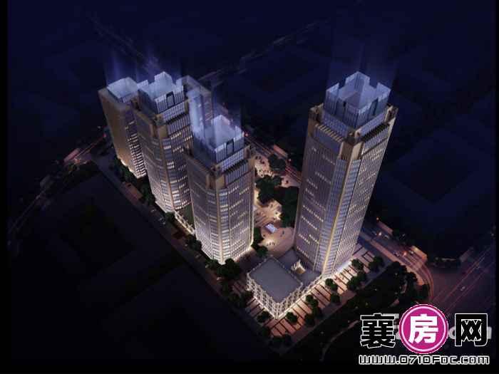 环球金融城夜景效果图