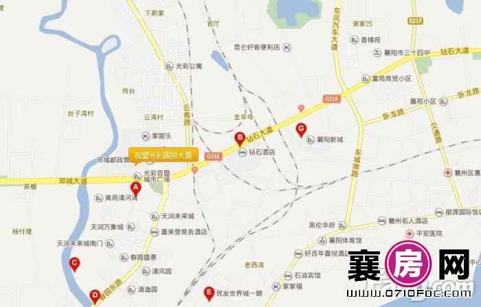 百盟光彩国贸大厦交通图