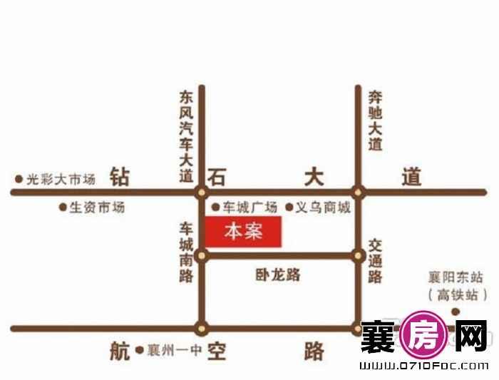 东方经典SOHO交通图