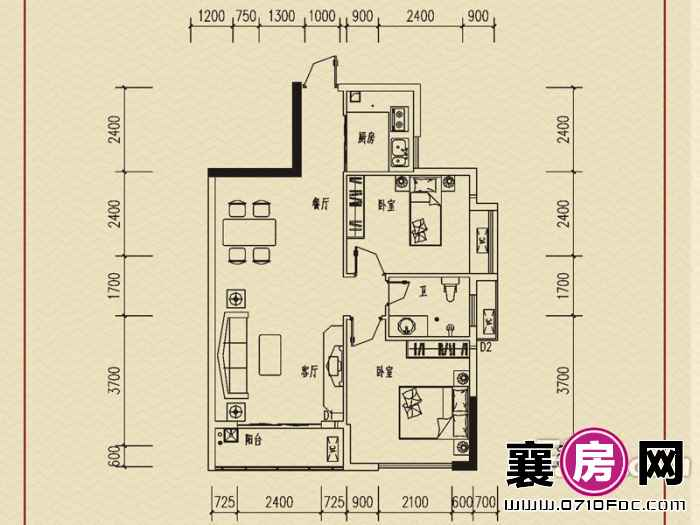 襄州一号户型图