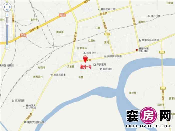 襄州一号交通图