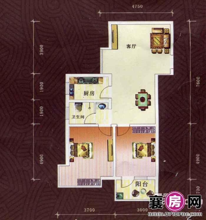 1#楼、2#楼E1户型
