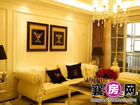 红星国际一期5号楼D户型样板间客厅