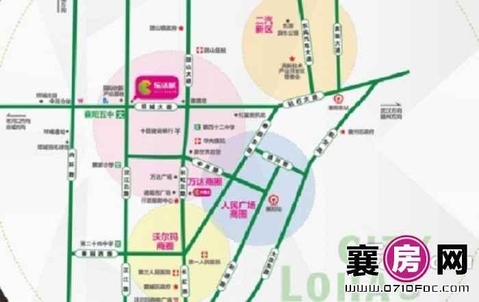 乐活城交通图
