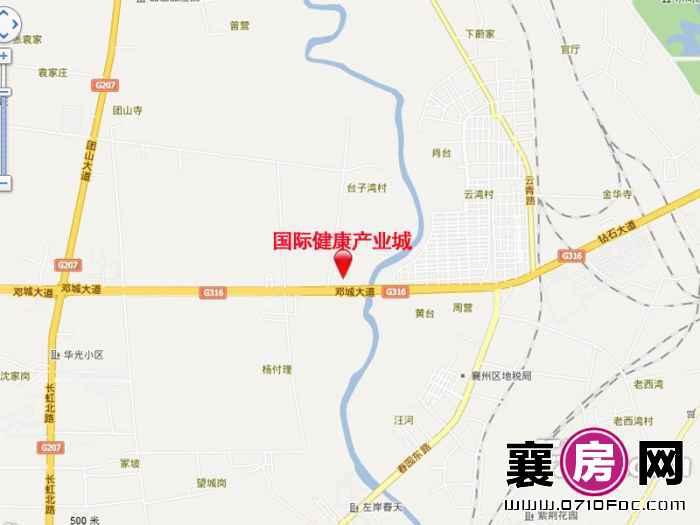 同济堂中国(襄阳)国际健康产业城区位示意图