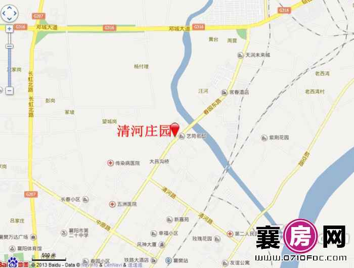 清河庄园交通图