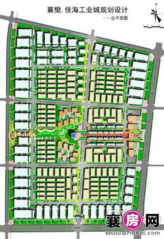 襄阳·佳海工业城规划图