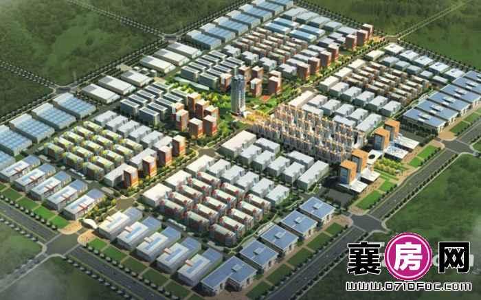 襄阳·佳海工业城鸟瞰图