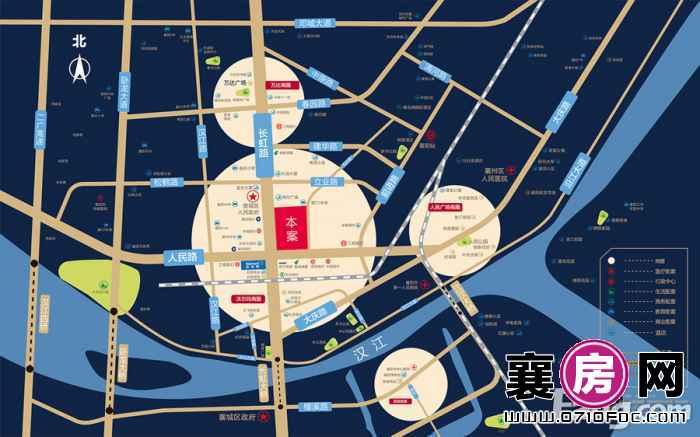 南国城市广场区位示意图