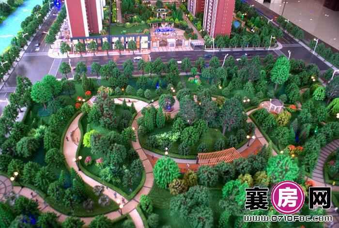 枣阳公园华府小区沙盘图