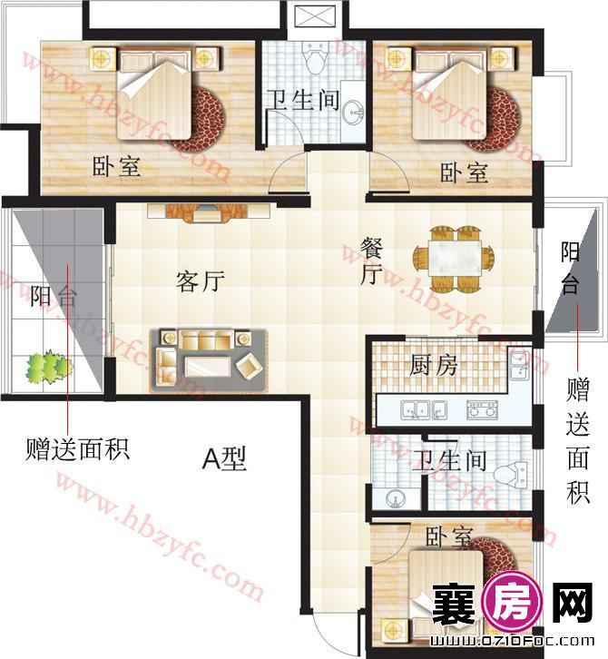 枣阳虹景花园户型图 (6)