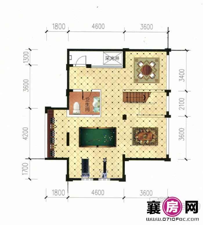 别墅V2三层平面图