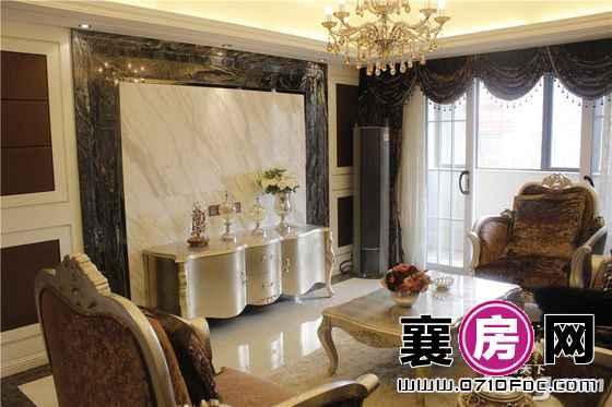 长虹观邸125.9平样板间客厅