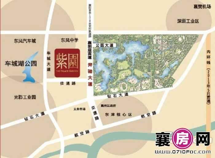 晴川盛景·紫园交通图