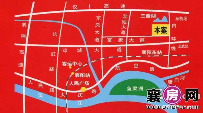 襄阳·佳海工业城交通图