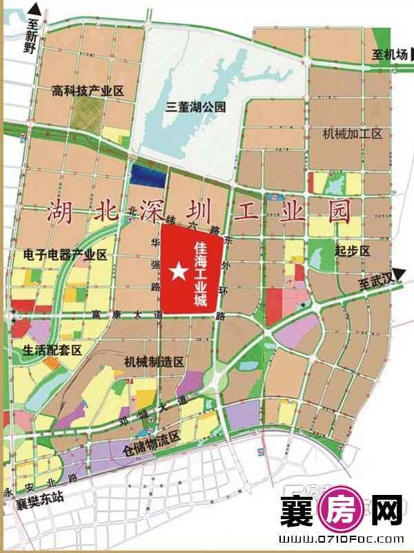 襄阳·佳海工业城交通区位图