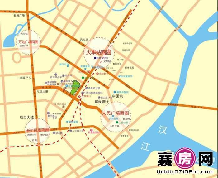 广锦·乐居广场交通图