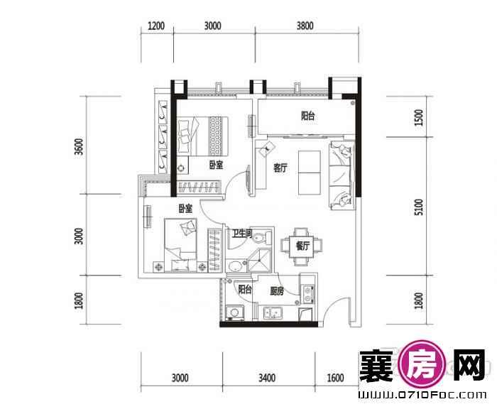 广锦·乐居广场户型图