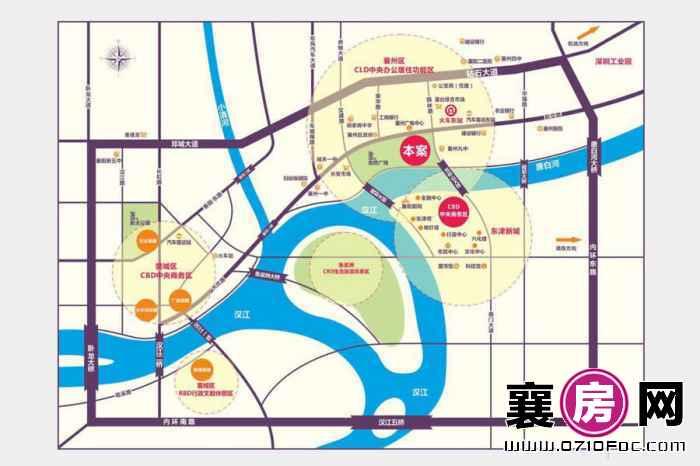 襄州城市广场交通图