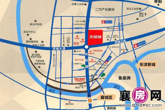 复星天贸城交通图