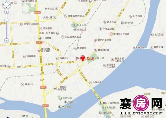 天元四季城区位地图