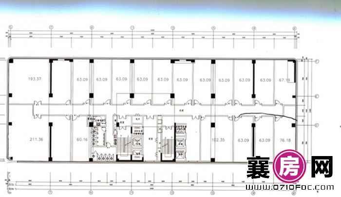 汉水华城7-16层平面图