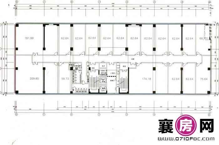 汉水华城18-24层平面图