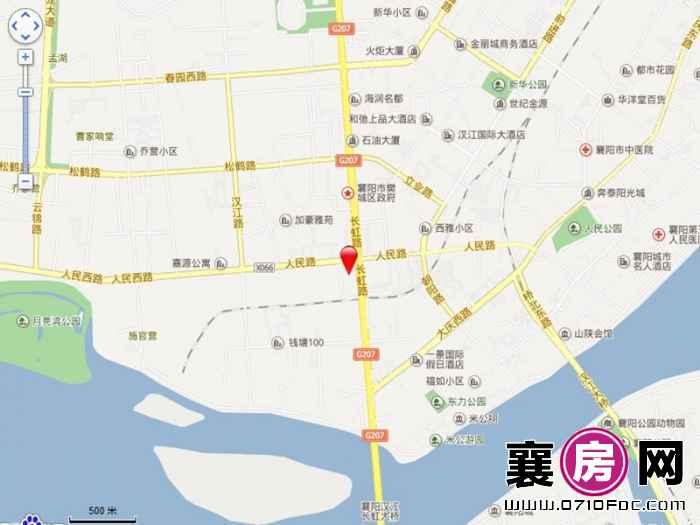汉水华城区位地图