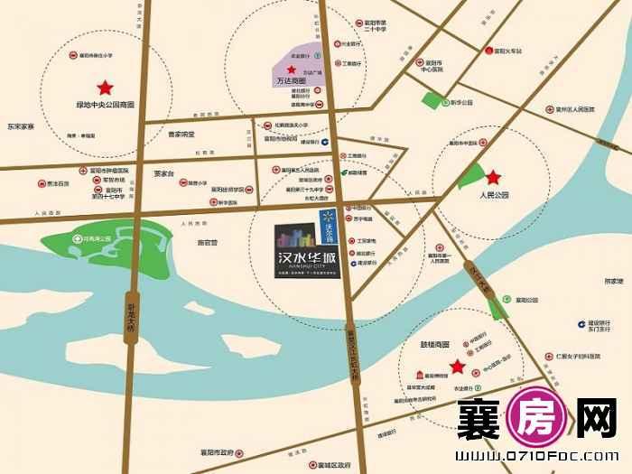 汉水华城交通图