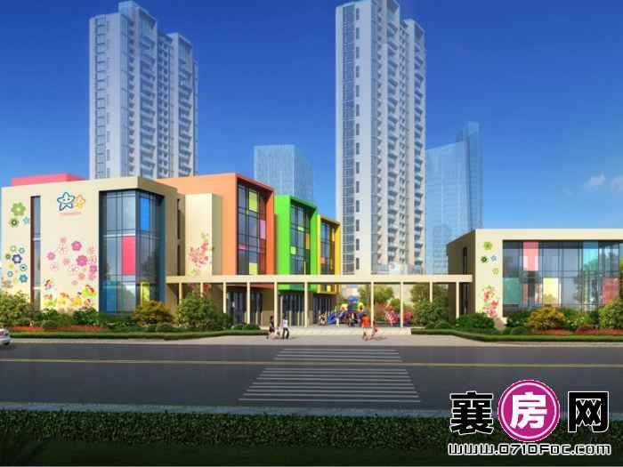 汉水华城3#地块幼儿园入口透视图