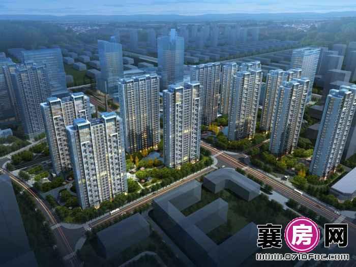 汉水华城住宅鸟瞰图