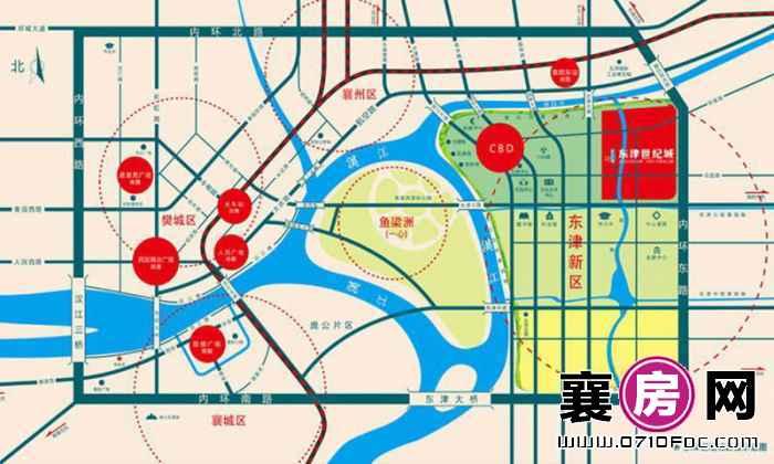 东津世纪城区位示意图