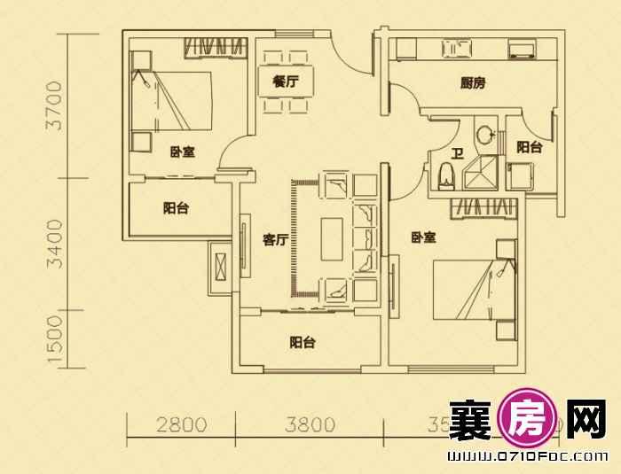 世纪荣华·紫薇苑户型图