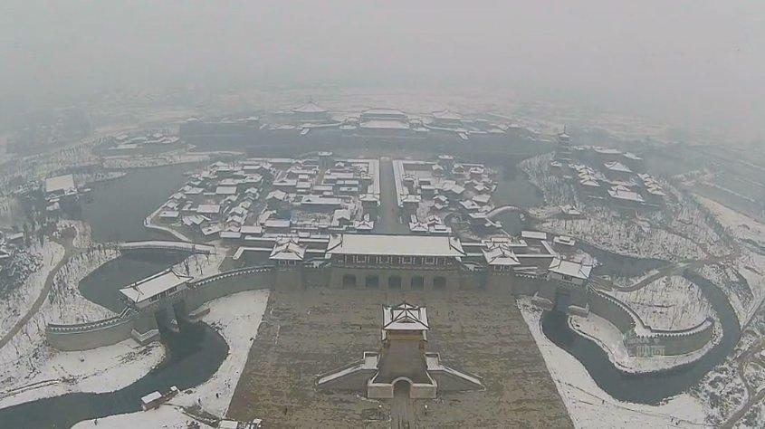 航拍襄阳之雪色盛唐 (56播放)
