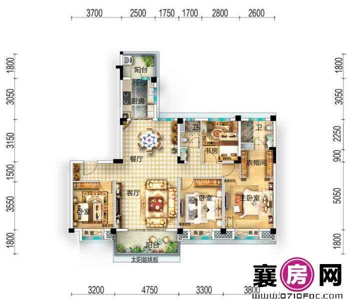 yj160板房户型 4室2厅2卫