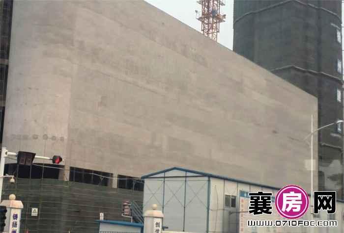 东风佳园项目八百米处建设中中百仓储