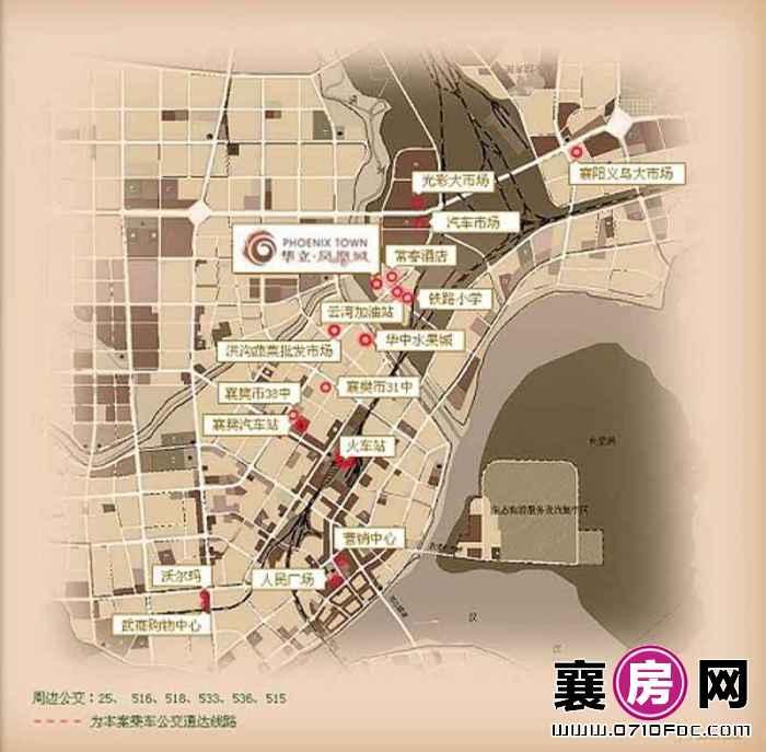 华立·凤凰城交通图