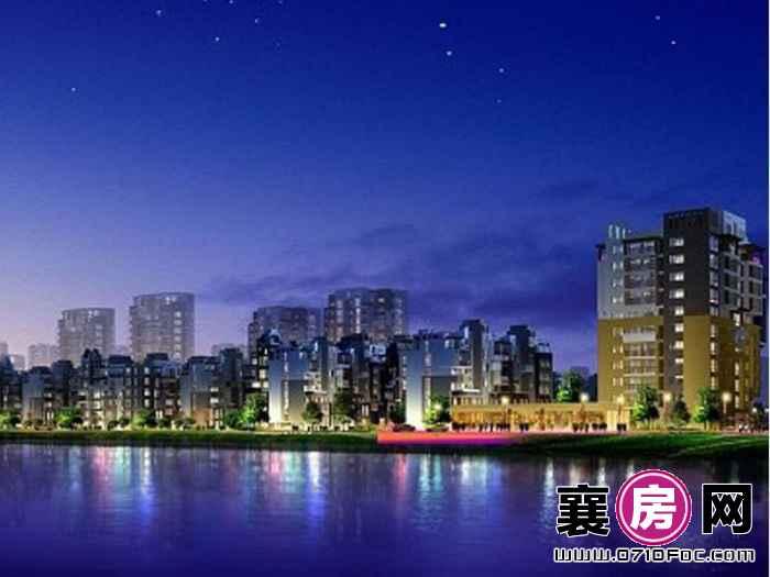 华立·凤凰城规划夜景效果图