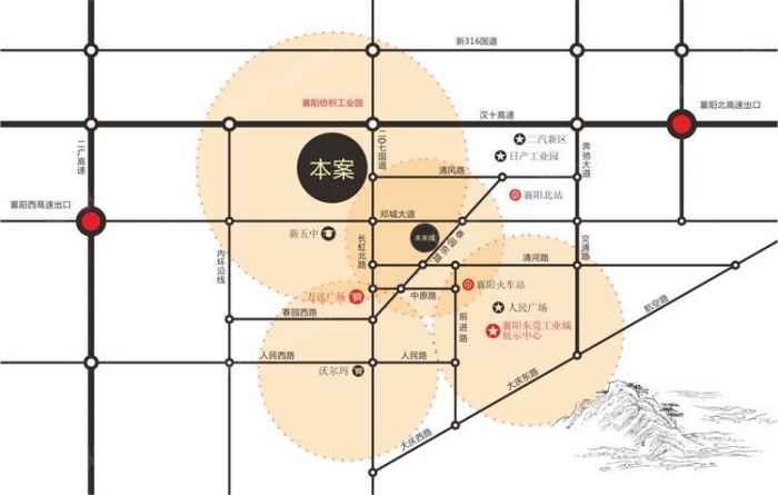襄阳东莞工业城区位示意图