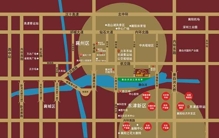滨湖春晓交通图