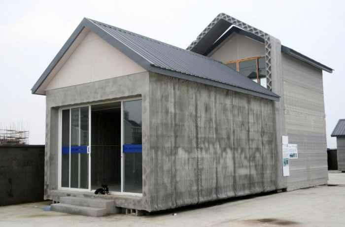 上海3D打印别墅交付使用 24小时造10间房 (5)
