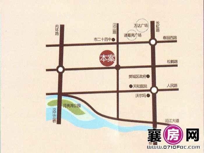 中房·祥和名邸交通图